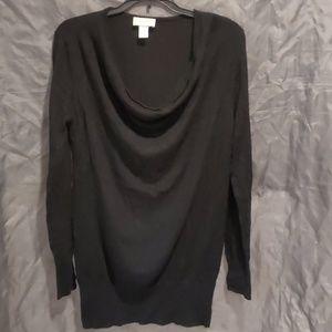 Loft cowlneck black sweater